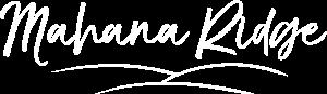 Mahana Ridge Logo Full White